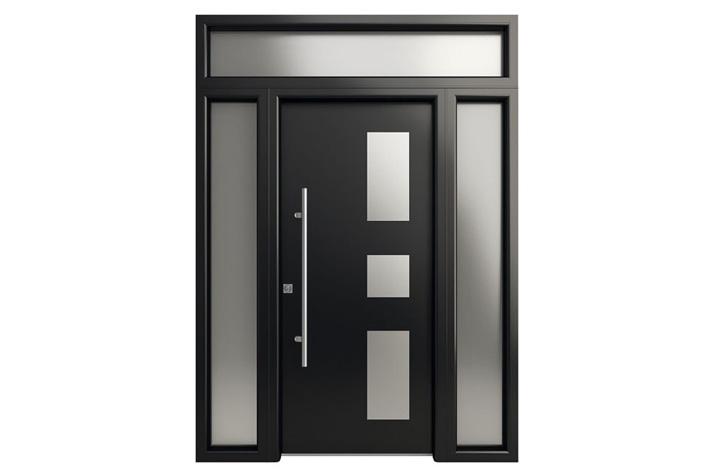 Puertas De Aluminio Para Baño Exterior:Puerta Entrada Vivienda Blindada en Aluminio